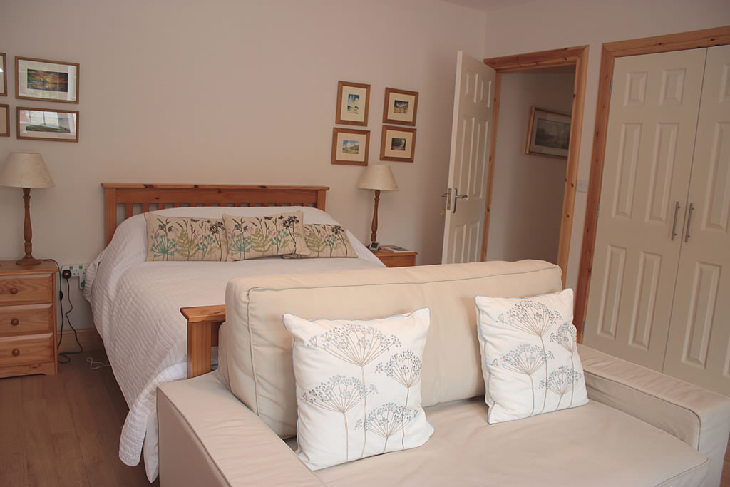 Garden Room has a double and single bed on the ground floor